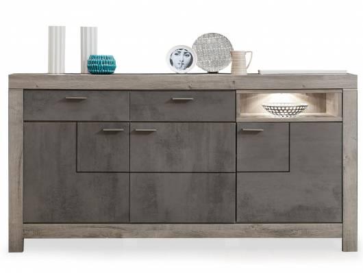 GOLONA Sideboard II, Material MDF, haveleichefarbig/betonfarbig