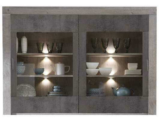 GOLONA Buffet-Aufsatz, Material MDF, haveleichefarbig/betonfarbig