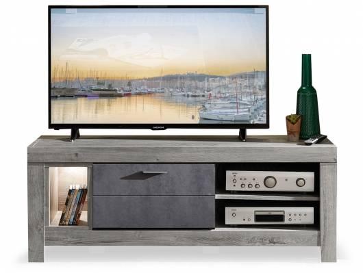 GOLONA TV-Unterteil, Material MDF, haveleichefarbig/betonfarbig