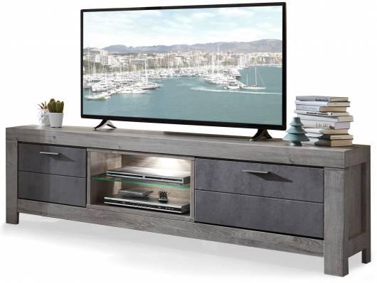 GOLONA TV-Unterteil II, Material MDF, haveleichefarbig/betonfarbig