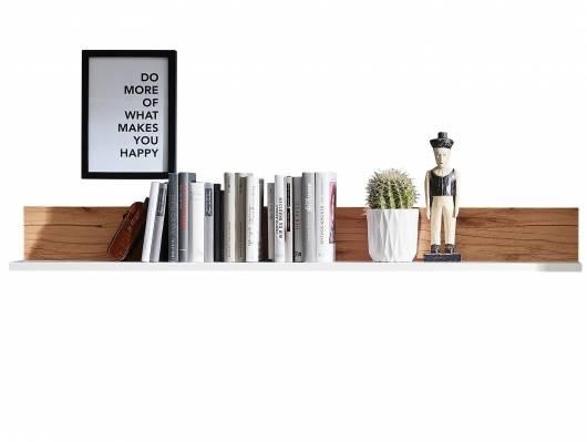 SEVINO Wandboard, Material MDF, weiss/Wildbuche massiv