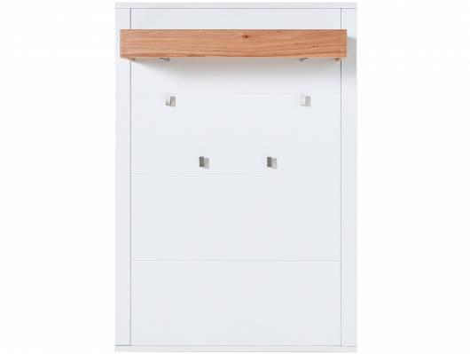 SEVINO Garderobenpaneel, Material MDF, weiss/Wildbuche massiv