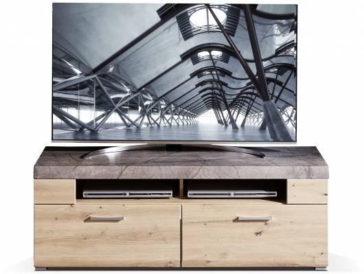 SILVANO TV-Unterteil, Material MDF, Artisan eichefarbig