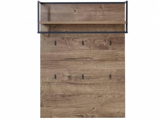 MILTON Garderobenpaneel, Material Dekorspanplatte, eichefarbig