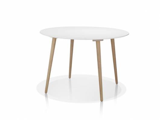 STEVEN Esstisch rund Durchmesser 110 cm, Material MDF/Massivholz