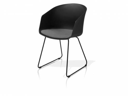 MARRY Schalenstuhl, Material Kunststoff, schwarz/grau