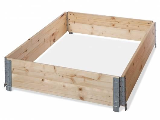 4er Set Holzaufsatzrahmen / Stapelrahmen für Europaletten 120x80 cm, Fichte massiv