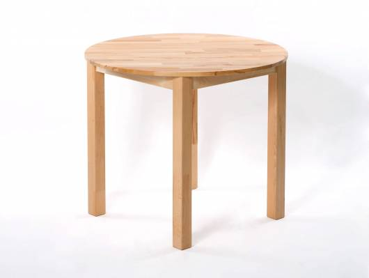 DIRK Esstisch rund 90 cm, Material Massivholz