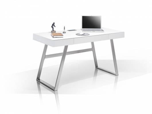Schreibtischplatte weiß  AURELA Schreibtisch weiß matt