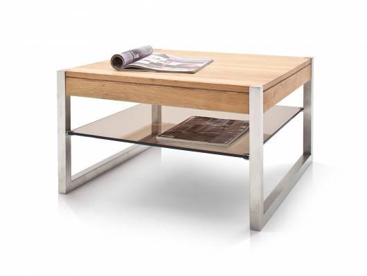 MANUEL Couchtisch, Material Massivholz/Metall, Eiche geölt