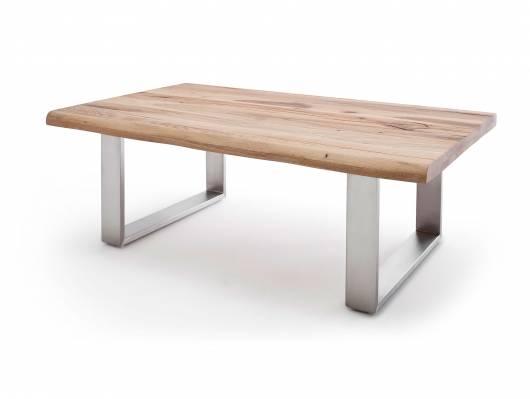 SIVALDO Couchtisch 120x75 cm, Material Massivholz, Zerreiche geölt