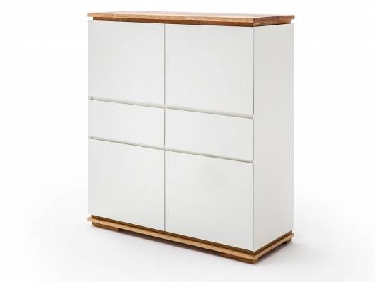 CITTO Highboard, Material Massivholz, Asteiche geölt