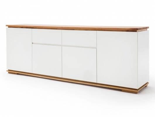 CITTO Sideboard II mit 4 Türen + 2 Schubkästen, Material Massivholz/MDF, Asteiche geölt