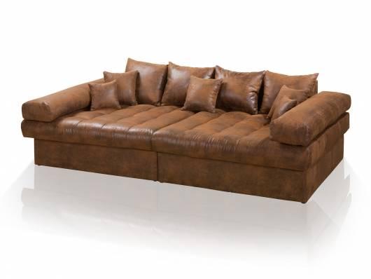 NIRI Big Sofa Bezug Microvelours Gobi  braun