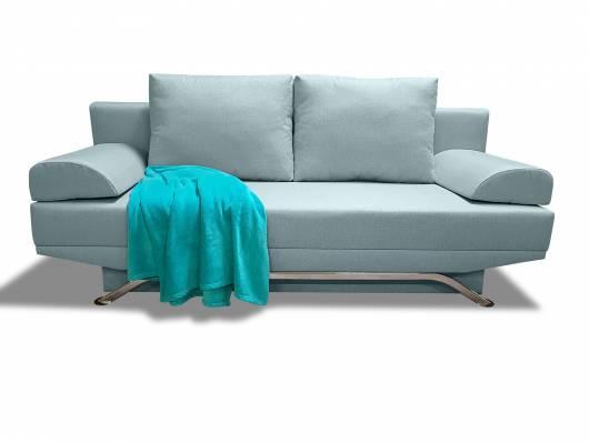 SAVOS Schlafsofa, Stoffbezug und Bettkasten