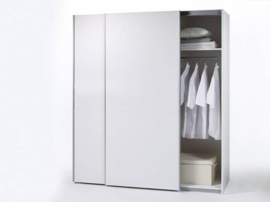 Vanta 1 Schwebetürenschrank 125 Cm Material Dekorspanplatte Weiss