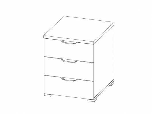 CASSIAN Schubkastencontainer 3 Schübe, Material Dekorspanplatte, Eiche sonomafarbig