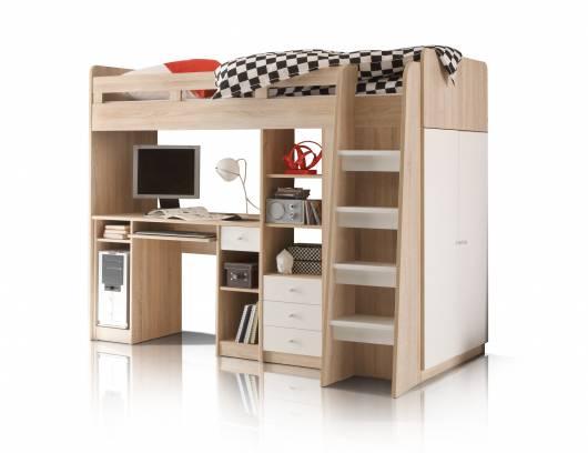 Etagenbett Weiß 90x200 : Unity 3in1 hochbett 90x200 cm material dekorspanplatte eiche