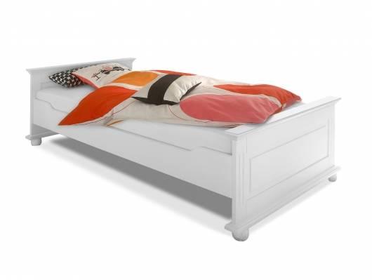 LORELEI Einzelbett 90x200 cm, Material Massivholz, Kiefer weiss