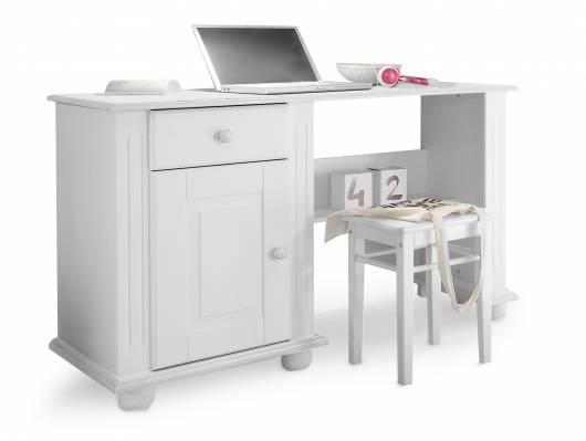 LORELEI Schreibtisch,  Material Massivholz, Kiefer weiss