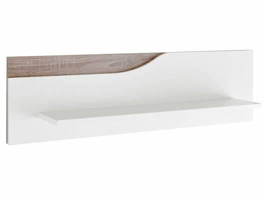 MONOLITO Wandboard, Material Dekorspanplatte, weiss/Eiche sonomafarbig