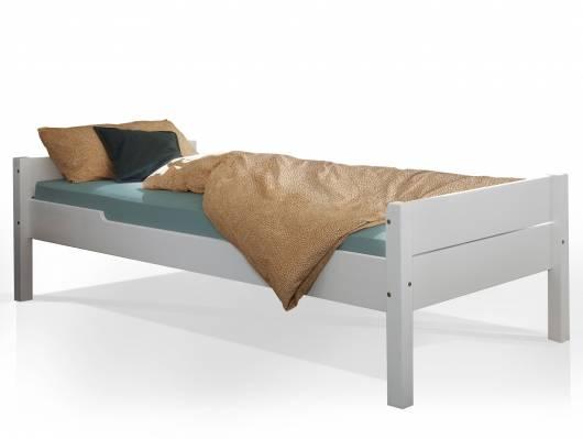 SAMMI Einzelbett 90x200 cm, Material Massivholz, Kiefer weiss