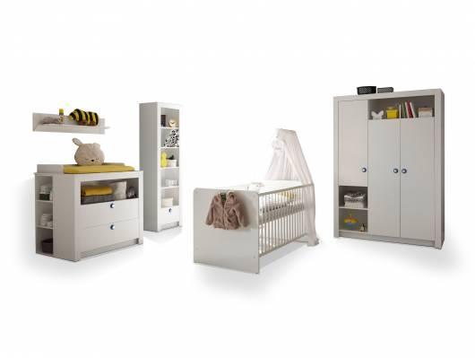 PAOLO Komplett-Babyzimmer, Material Dekorspanplatte, weiss