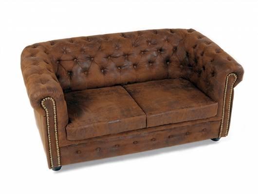CHESTERFIELD 2-Sitzer Sofa Gobi braun