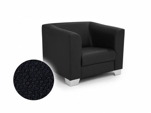 CHICAGO Sessel Berlin schwarz, Material Stoff
