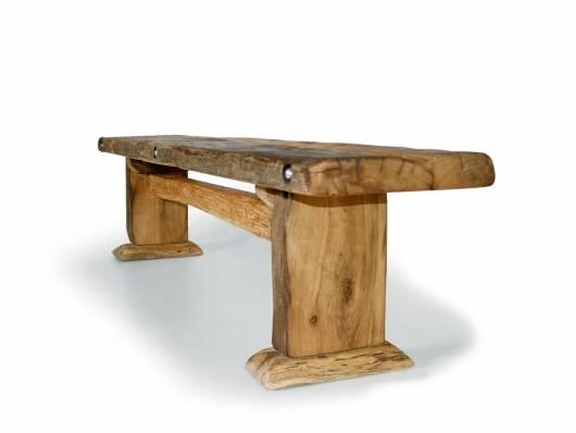 WIKINGER Sitzbank / Massivholzsitzbank ohne Rückenlehne, Material Massivholz