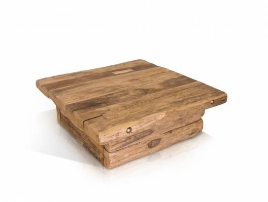 WIKINGER Couchtisch 90x90 cm Höhe 31 cm, Material Massivholz