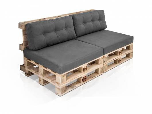 PALETTI 2-Sitzer Sofa aus Paletten natur