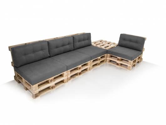 PALETTI Sofalandschaft I Sofa aus Paletten Fichte massiv