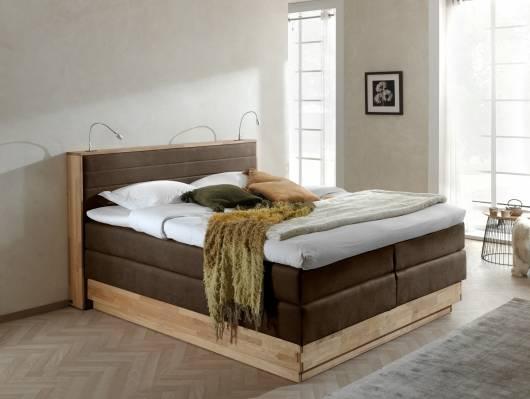 MENOTA Boxspringbett im Vintage Look mit Bettkasten