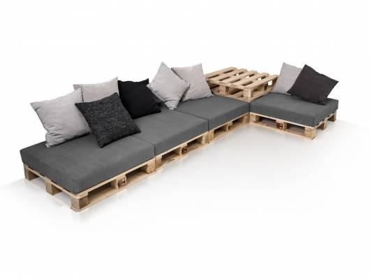 PALETTI Sofalandschaft II Sofa aus Paletten Fichte massiv