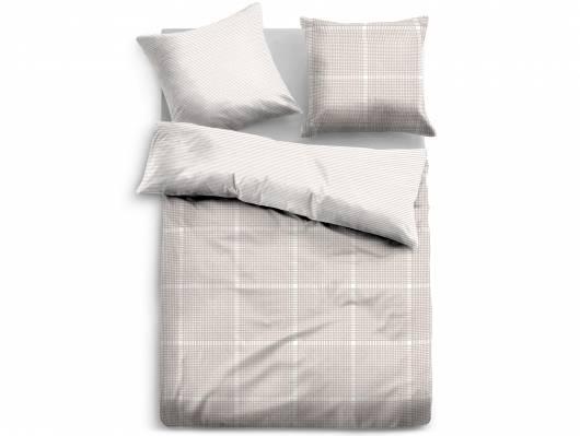 TOM TAILOR Bettwäsche Satin Bed Linen 135x200 cm beige/weiss