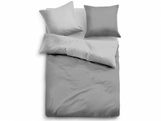TOM TAILOR Bettwäsche Satin Bed Linen uni grau