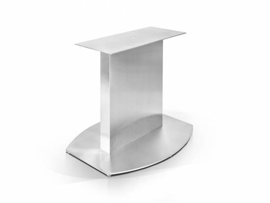 Gestell/Säulenfuß für Esstische in Bootsform, Material Edelstahl