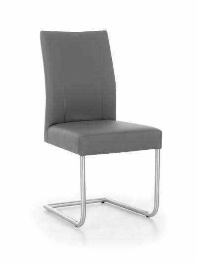 spider freischwinger esszimmerstuhl kunstleder grau. Black Bedroom Furniture Sets. Home Design Ideas