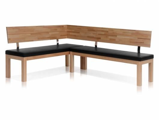 SALIMA Eckbank, Material Massivholz/Kunstleder