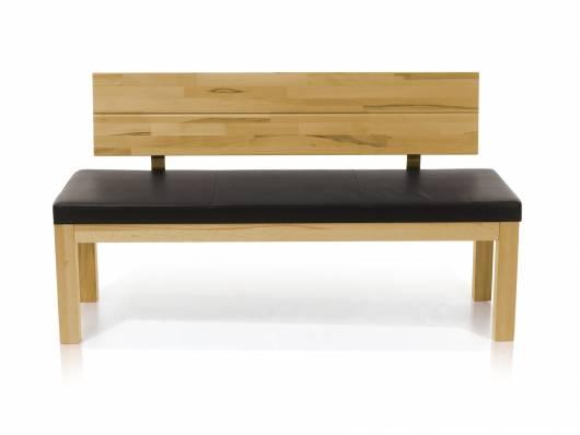 SALIMA Sitzbank mit Rücken Massivholz