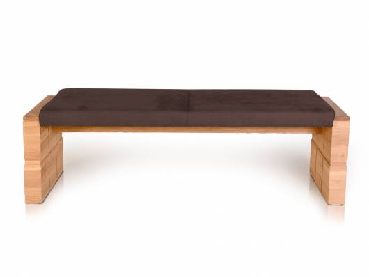 WOOD Sitzbank ohne Rücken mit hochwertigen Bezug