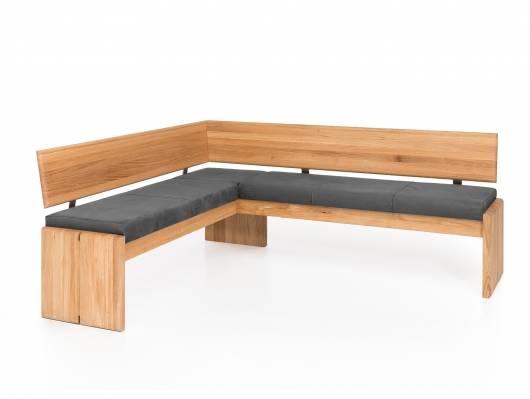 SCOTT Eckbank mit Truhe, Material Massivholz/Bezug Kunstleder