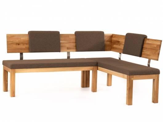 SALIMA Eckbank, Material Massivholz / Stoffbezug