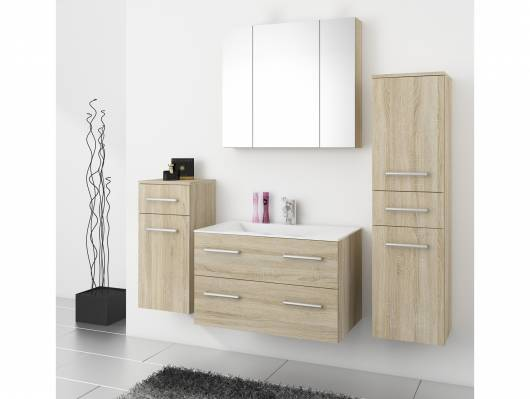 RAFFAELA Badezimmerset, Material Dekorspanplatte, Eiche sägeraufarbig