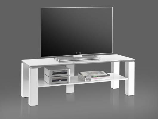RABEA Lowboard 120 cm weiß Hochglanz