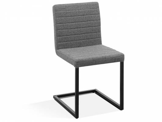 LONZO Freischwinger, Material Stoff/Metall, grau/schwarz