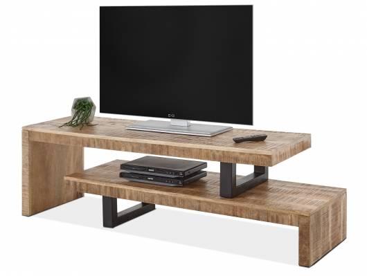 BACARA TV-Lowboard, Material Massivholz, Mango