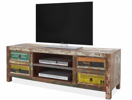 BELKA TV-Lowboard, Material Massivholz, mehrfarbiges Antik-Finish