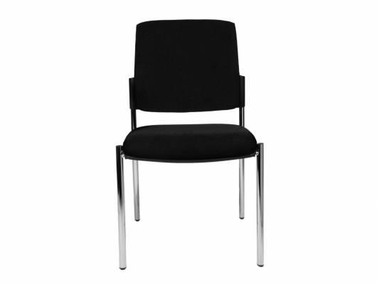B-TO-B 10 Besucherstuhl / Stapelstuhl ohne Armlehne, Material Kunstfaser/Metall, schwarz